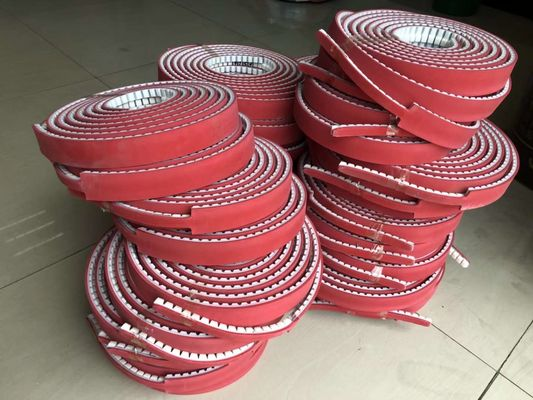 China Customized PU Timing Belt , Synchronous Belts And Pulleys With Backings supplier