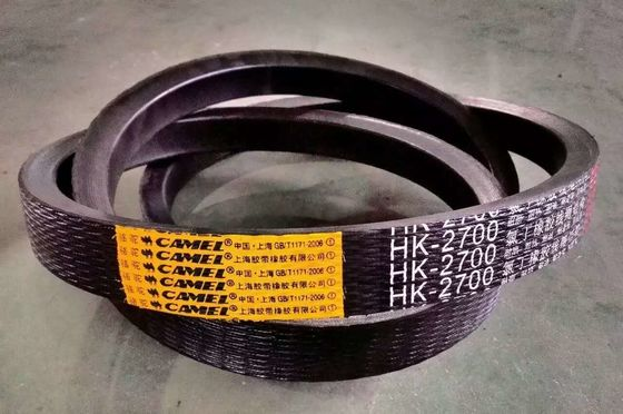 China Aramid Kevlar V Belts , Wrapped Agricultural Conveyor Belt High Wear Resistance supplier