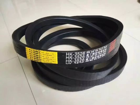 China Rubber Wrapped Agricultural V Belts Black Color With Low Elongation Rate supplier
