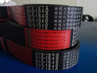 China Wrapped Banded Rubber V Belt Black Color Compact And Low Stretch Design supplier