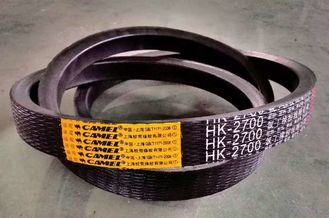 China Rubber Material Wrapped V Belt High Oil Resistance With Low Elongation Rate supplier